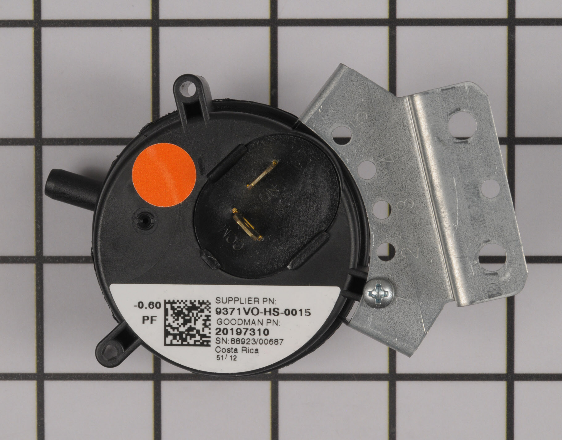 20197310 Goodman Furnace Part -Pressure Switch