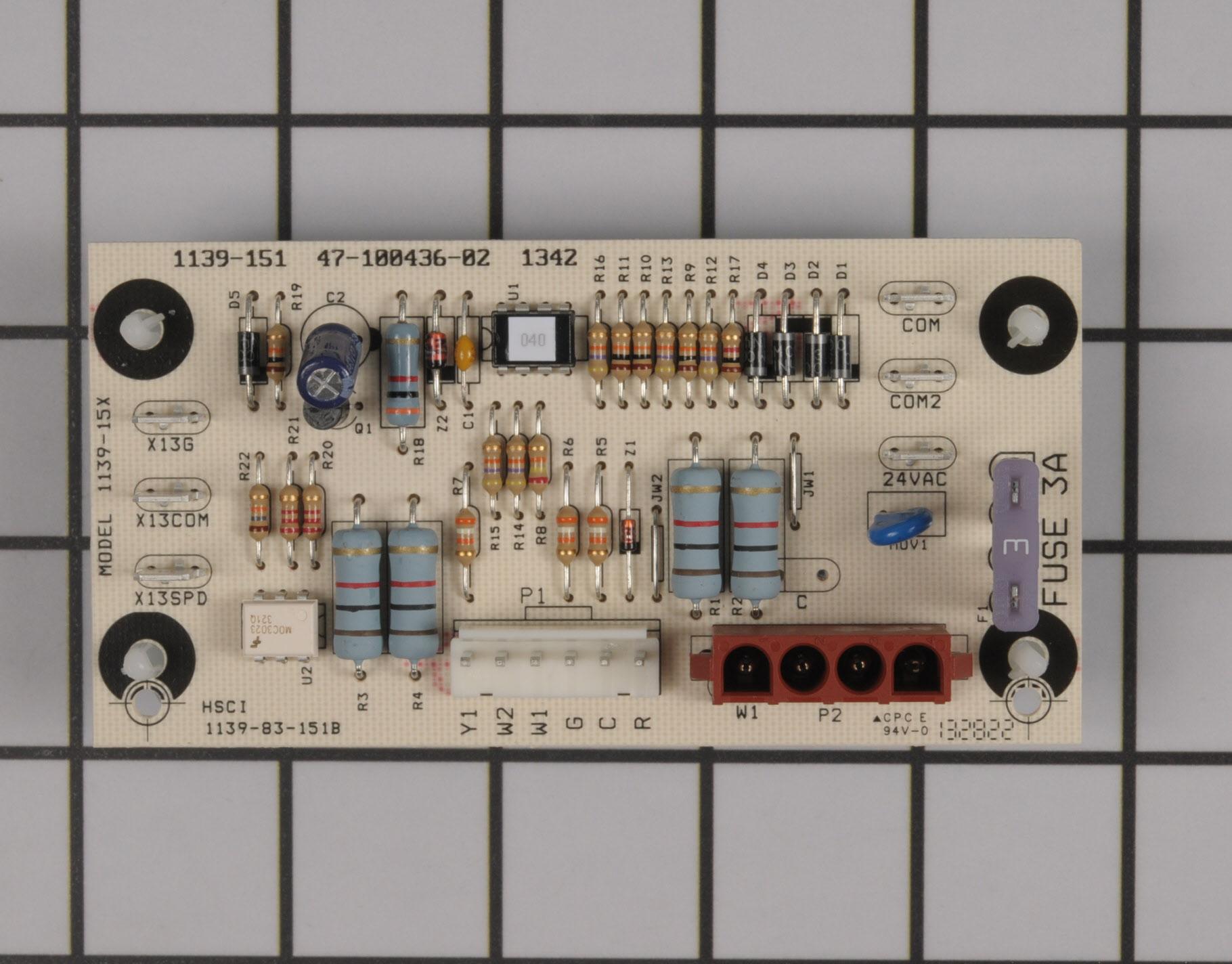 47-100436-02 WeatherKing Air Handler Part -Control Board