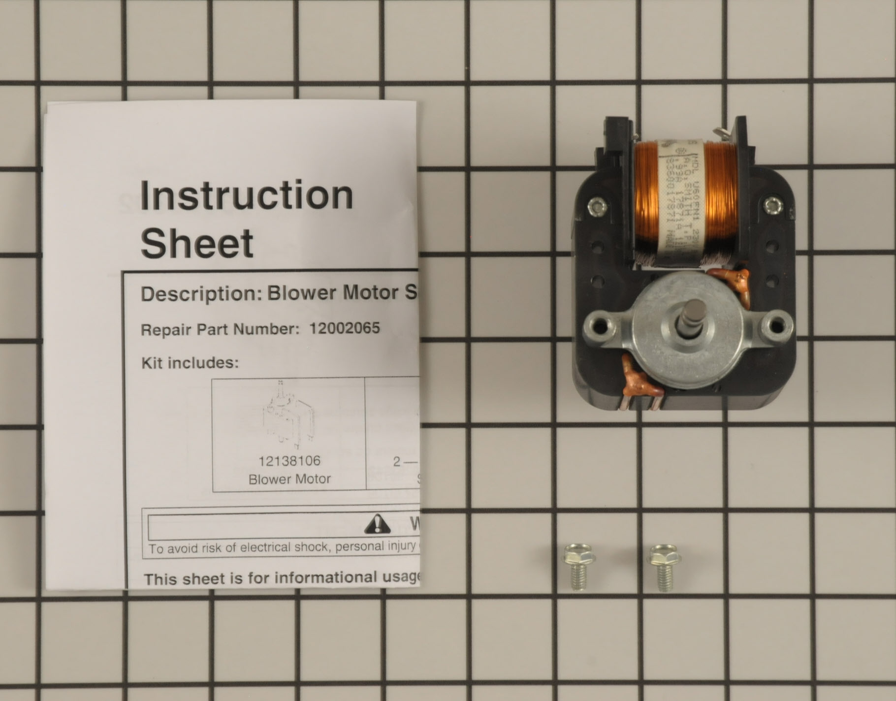 12002065 Amana Commercial Microwave Microwave Part -Exhaust Fan Motor