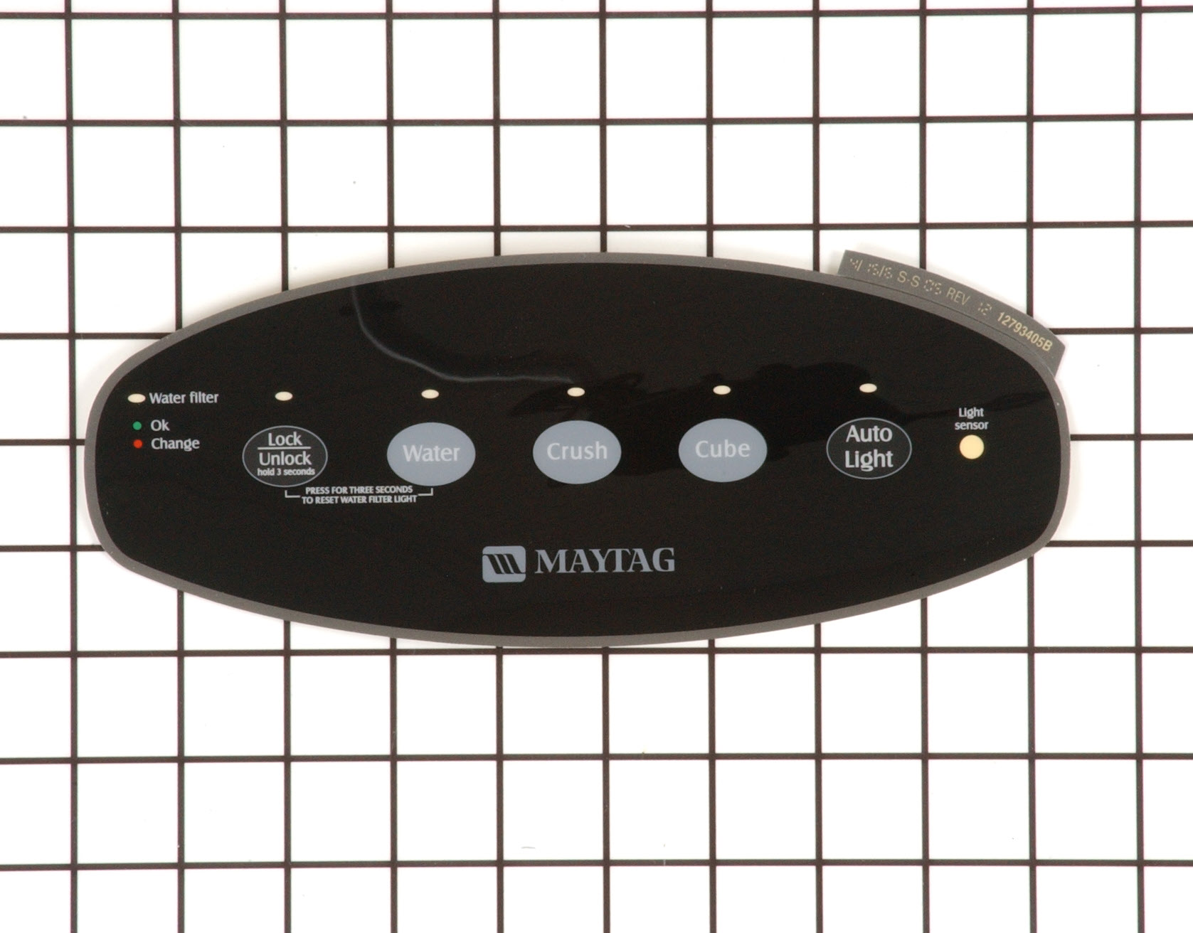 WP67004151 Admiral Refrigerator Part -Overlay