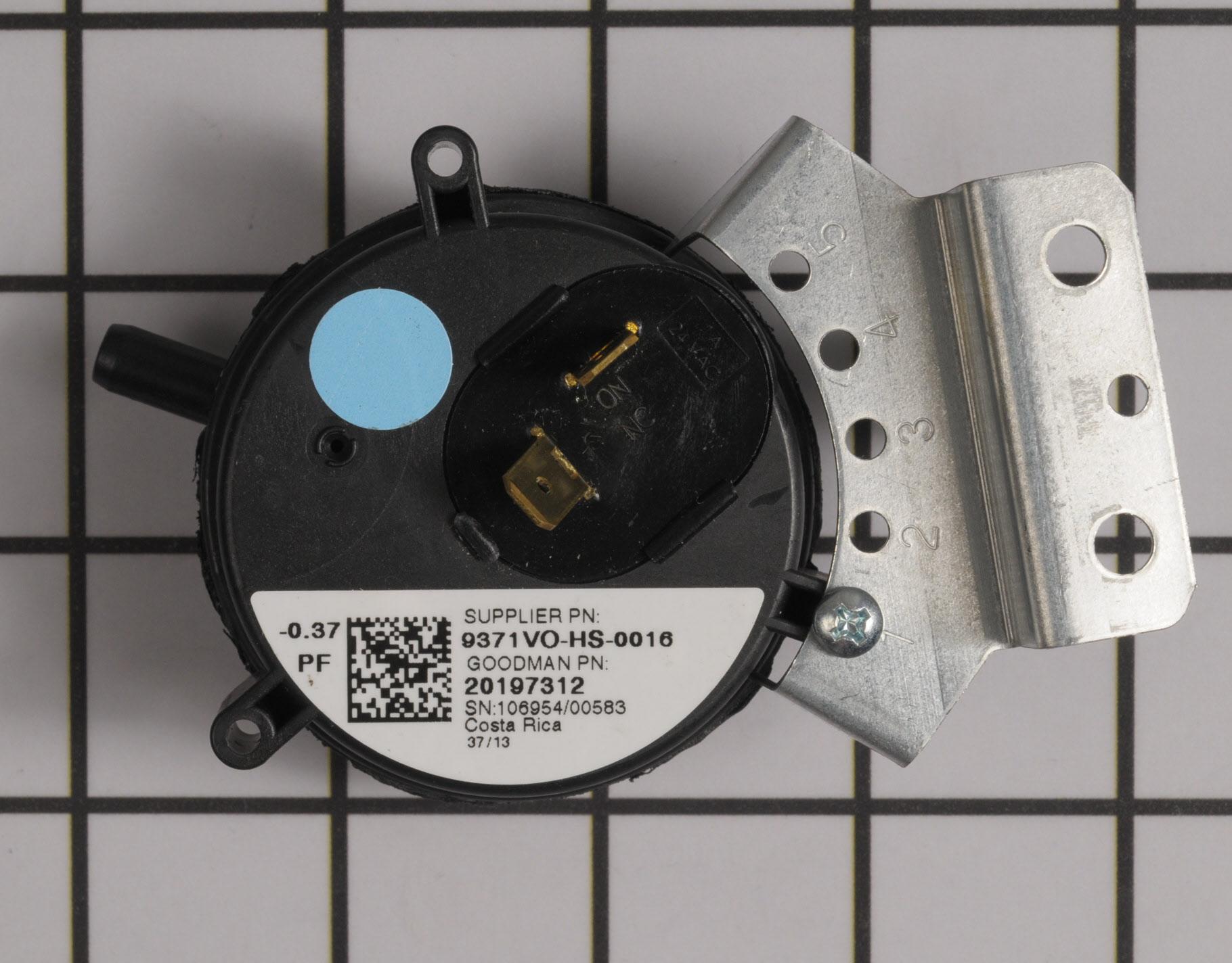 20197312 Goodman Furnace Part -Pressure Switch