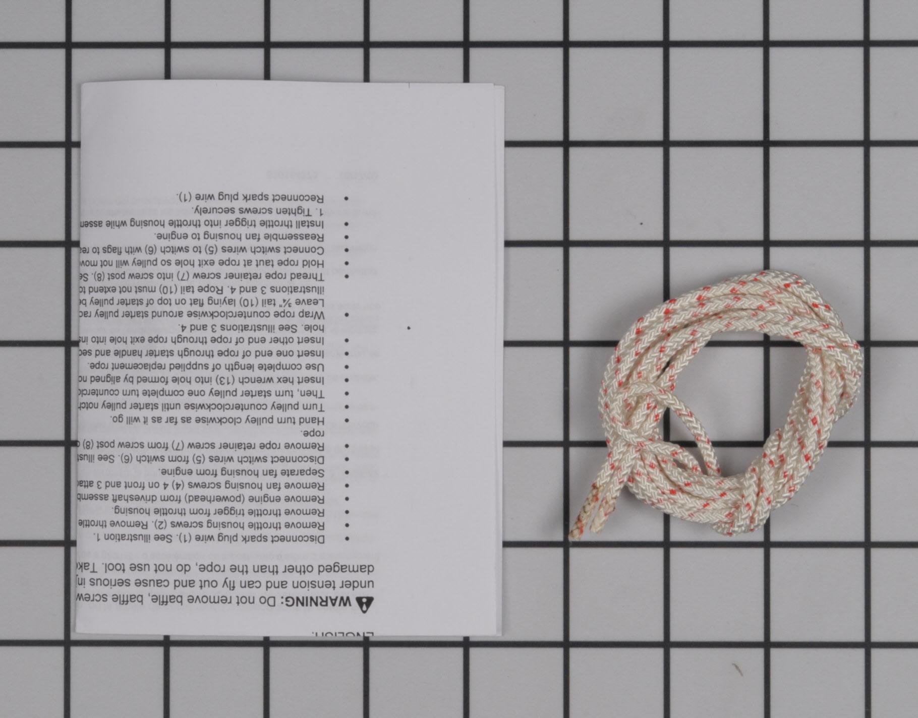 545081833 Poulan Pro Leaf Blower Part -Starter Rope