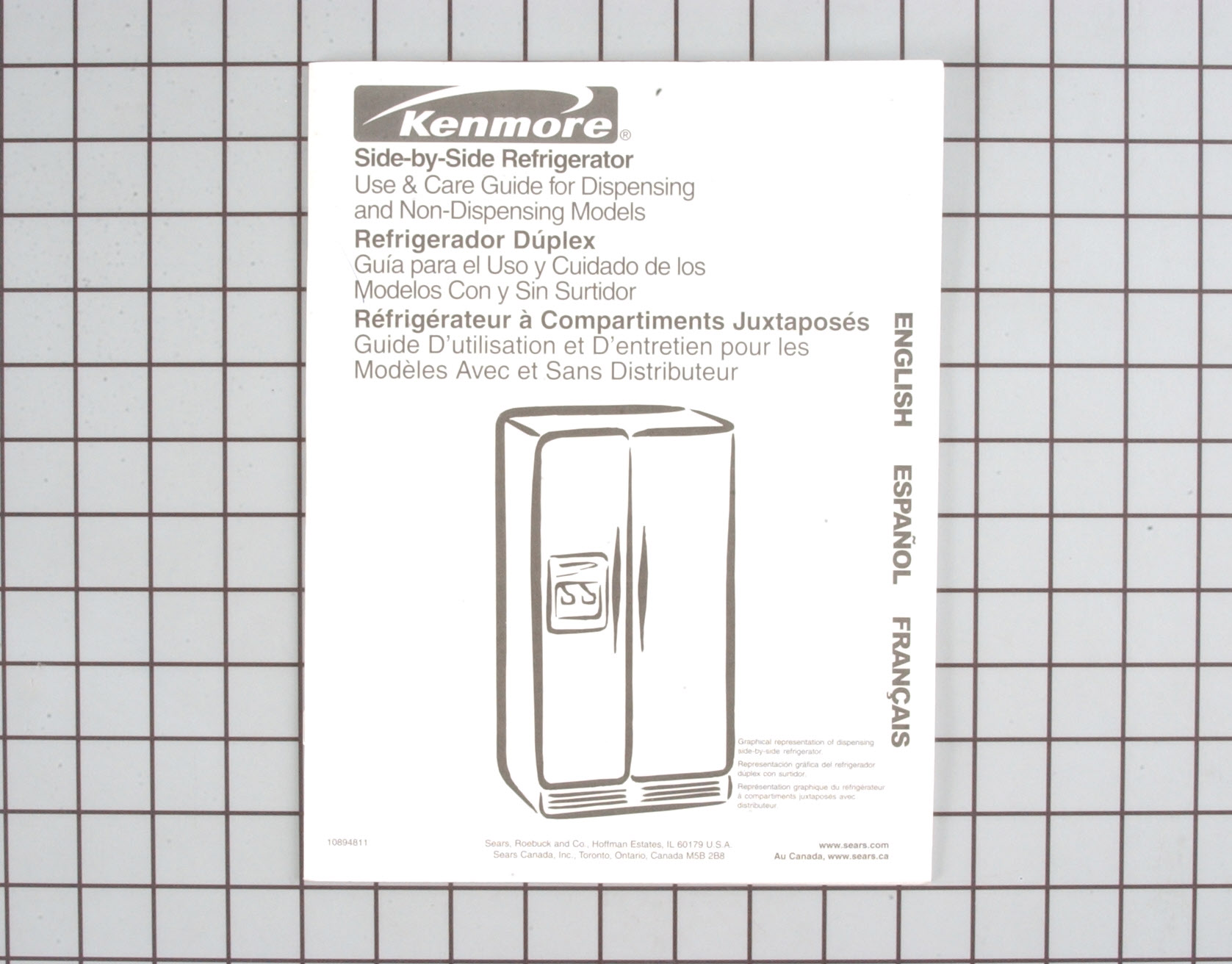 10894811 Kenmore Refrigerator Part -Owner's Manual