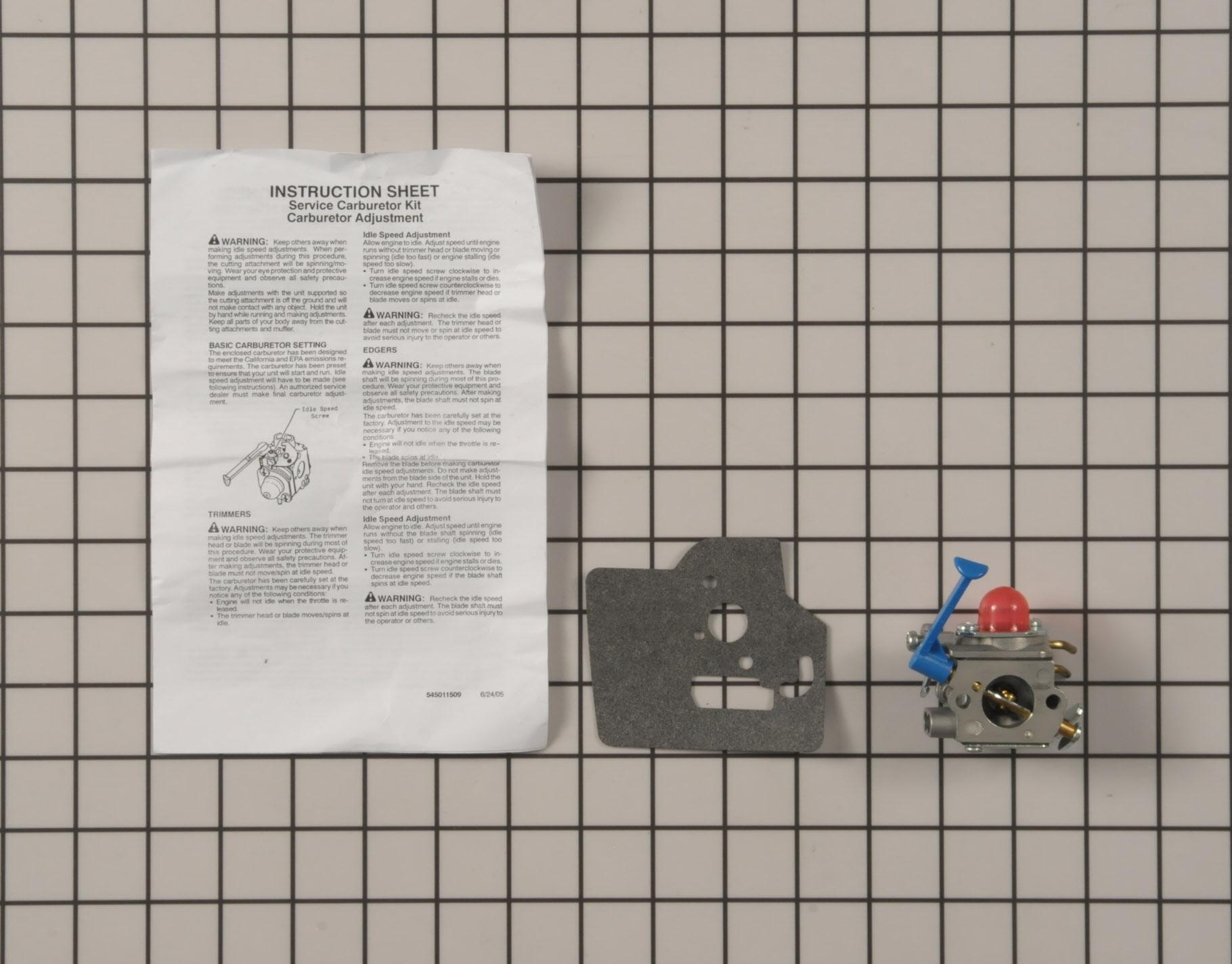 545081848 Poulan String Trimmer Part -Carburetor