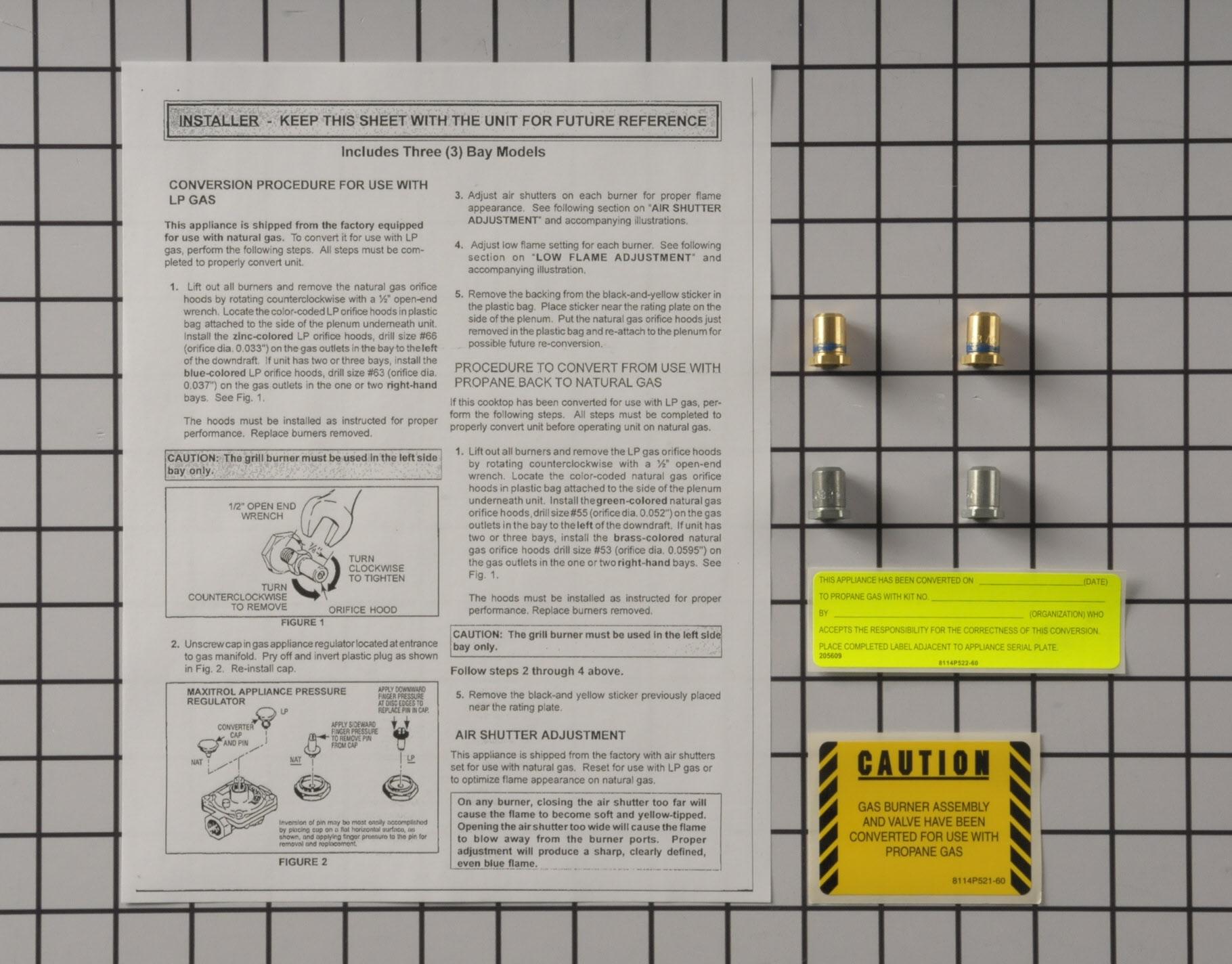 12001809 Jenn Air Range Stove Oven Part -Conversion Kit